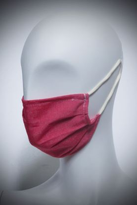 Picture of Mask in organic cotton and bamboo solid red