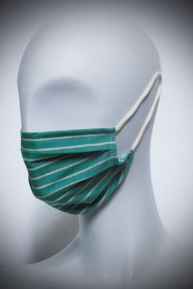 Picture of Mask in organic cotton and bamboo green stripes