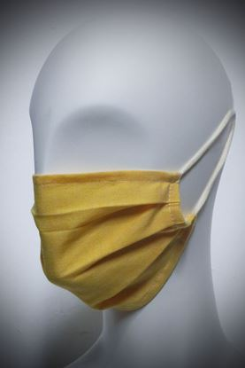 Picture of Mask in organic cotton and bamboo yellow solid