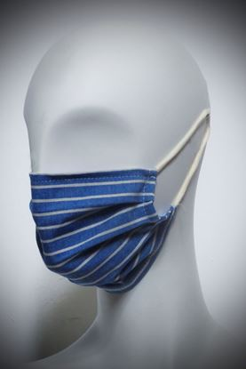 Picture of Mask in organic cotton and bamboo blu stripes