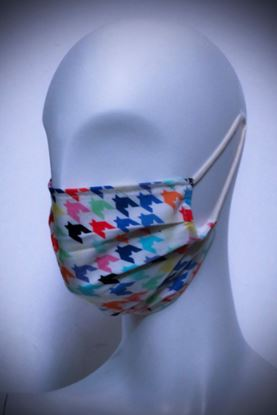 Picture of Mask in organic cotton and bamboo Pied De Poule Multicolor