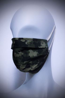 Picture of Mask in organic cotton and bamboo Camouflage Hatch
