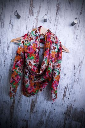 Picture of Scarf Cotton Silk Flowers