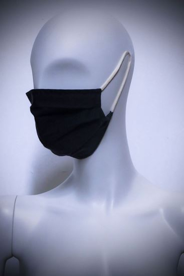 Picture of Mask in organic cotton and bamboo Black