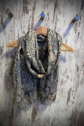 Picture of Stola in Lurex con stampa Leopardo Maculata