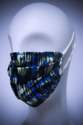 Picture of Mask in organic cotton and bamboo Mimetic Tie and Dye print