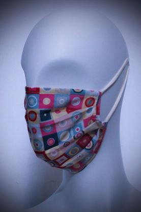 Picture of Mask in organic cotton and bamboo 60's Style