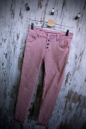 Picture of Pink jeans trousers