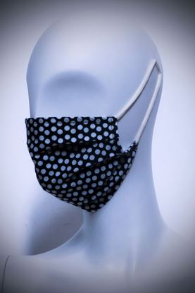 Picture of Mask in organic cotton and bamboo Pola Dot Pois